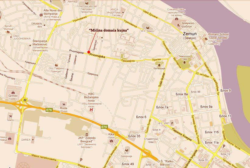 mapa zemuna Mićina domaća kujna | domaća hrana, Zemun, Beograd mapa zemuna